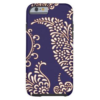 Paisley van het damast vintage girly bloemenhennap tough iPhone 6 hoesje