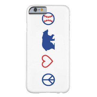 Paix, amour, et base-ball de Chicago Coque Barely There iPhone 6