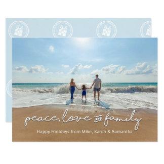 Paix, amour et famille du carte photo | de