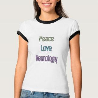 Paix, amour, neurologie t-shirt