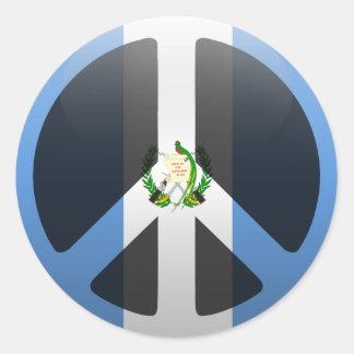 Paix au Guatemala Sticker Rond