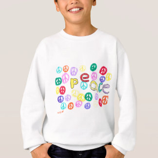 Paix colorée sweatshirt