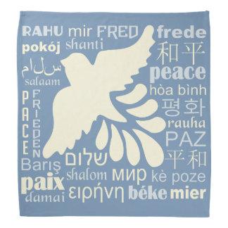 PAIX dans le bandana de beaucoup de langues