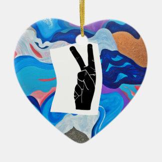 Paix de flèche ornement cœur en céramique