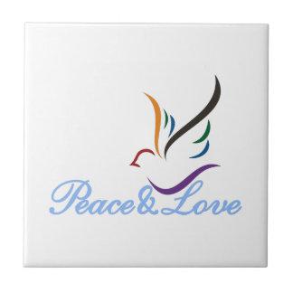 Paix et amour petit carreau carré