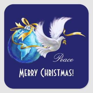 Paix sur des autocollants de Noël