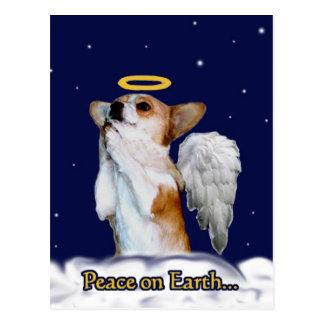Paix sur l ange de Dott de la terre Carte Postale