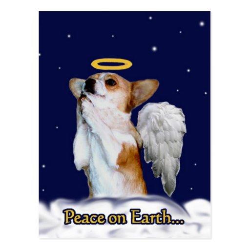 Paix sur l'ange de Dott de la terre Carte Postale