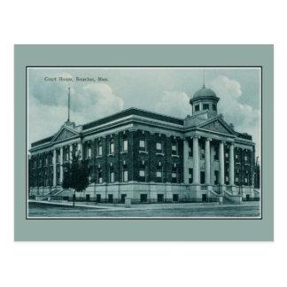 Palais de justice 1910 du cru c Brandon Manitoba Cartes Postales