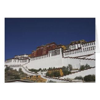 Palais de Potal à Lhasa, Thibet Carte
