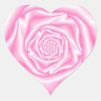 Pâle - autocollant rose de coeur de spirale rose