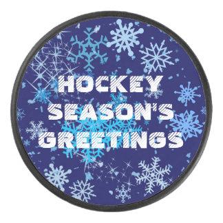 Palet De Hockey Chutes de neige de nuit de Noël