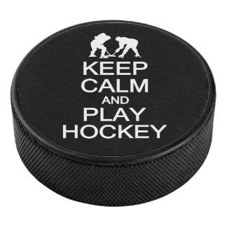 Palet De Hockey Gardez la couleur de coutume d'hockey de calme et