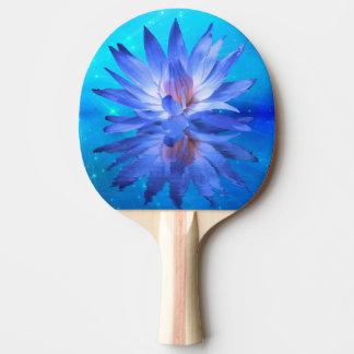 Palette bleue de ping-pong de nénuphar raquette de ping pong