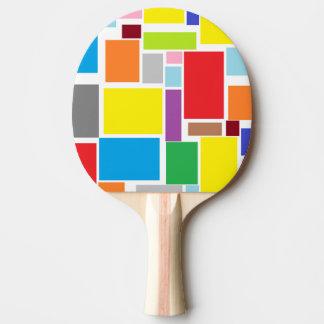 Palette colorée de ping-pong de blocs de raquette de ping pong
