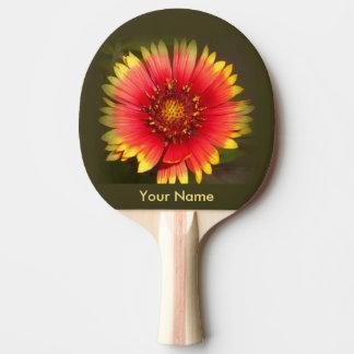 Palette colorée de ping-pong de fleur sauvage raquette de ping pong