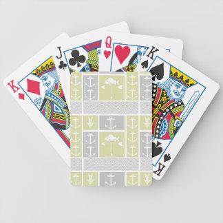 Palette de temps jaune et grise nautique de jeu de cartes