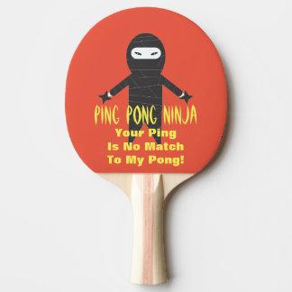 Palette drôle de ping-pong de Ninja de ping-pong Raquette Tennis De Table