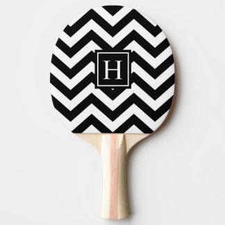 Palette noire et blanche de ping-pong de raquette tennis de table