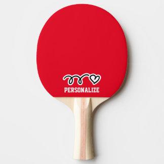Palette nommée personnalisée de ping-pong de raquette tennis de table