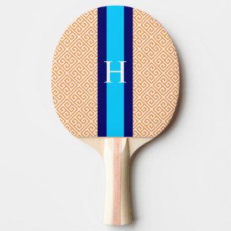 Palette principale grecque orange de ping-pong de raquette de ping pong