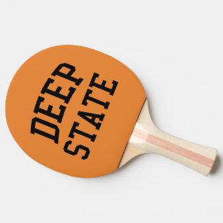 Palette profonde de ping-pong d'état raquette de ping pong