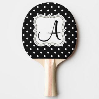 Palettes blanches noires de ping-pong de raquette de ping pong