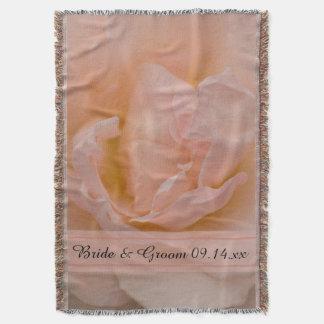 Pâlissez - le mariage floral de rose de rose couvre pied de lit
