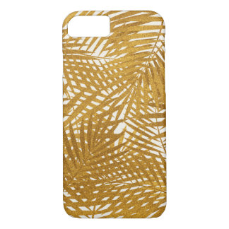 Palmettes de feuille d'or coque iPhone 7