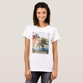 Palmiers imprimés du T-shirt des femmes