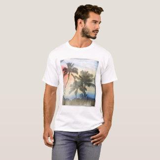 Palmiers imprimés du T-shirt des hommes