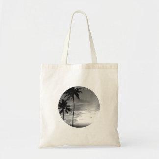 Palmiers noirs et blancs sac en toile budget