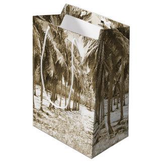 Palmiers tropicaux vintages sac cadeau moyen
