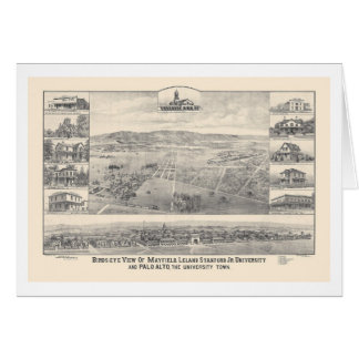 Palo Alto, carte panoramique 1888 (1658A) de CA