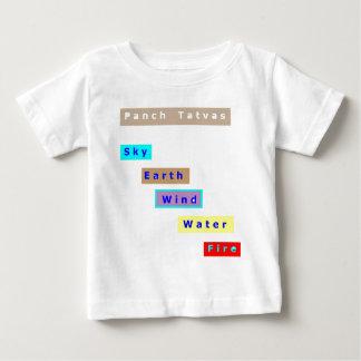 PANCH Tatwa : LE FEU DE L'EAU DE VENT DE LA TERRE T-shirt Pour Bébé