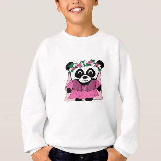 Panda de fille dans la robe rose de la Renaissance