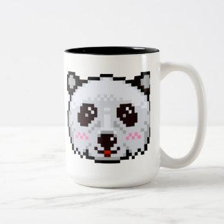Panda de Pixel-Art Tasse 2 Couleurs