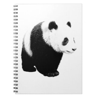 Panda noir et blanc carnets à spirale