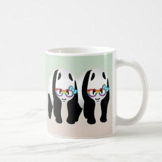Pandas de hippie de gay pride mug blanc