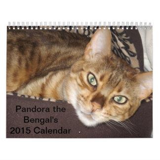 Pandore le calendrier du Bengale 2015