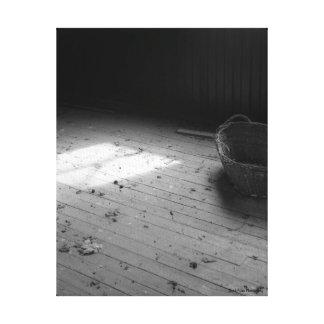 Panier en noir et blanc toiles