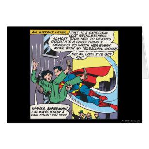 Panneau comique de Superman - Lois par instant
