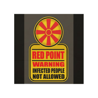 Panneau d'avertissement rouge de point