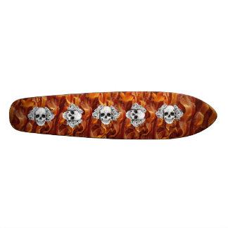 panneau de crâne de lard long skateboard  20 cm