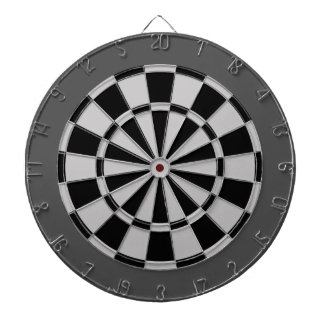 Panneau de dard : Gris argenté, noir, et charbon Jeux De Fléchettes