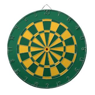 Panneau de dard : Or, vert, et vert-foncé Jeux De Fléchettes