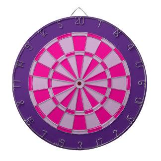 Panneau de dard : Pourpre mauve-clair, rose, et Jeux De Fléchettes