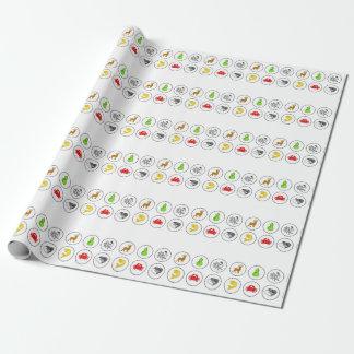 Panneau de jeu de collection de crabe de crevette papier cadeau
