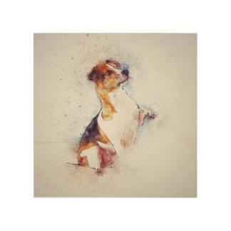 Panneau de mur en bois de chien de Terrier