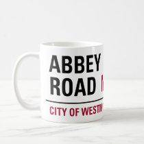 Panneau routier d'abbaye mug blanc